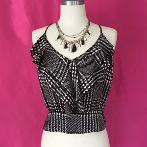 Houndstooth Sleeveless Top